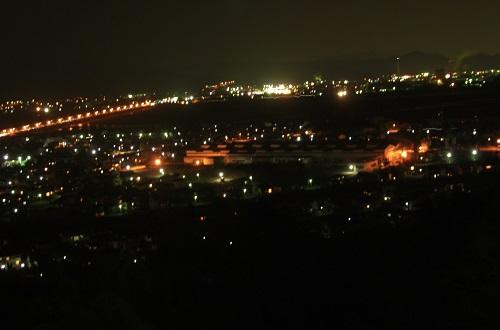牧の原から大井川の夜景