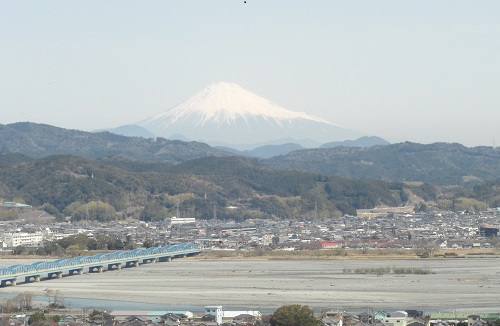 大井川と富士山